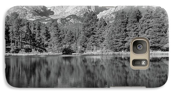 Galaxy Case featuring the photograph Black And White Sprague Lake Reflection by Dan Sproul