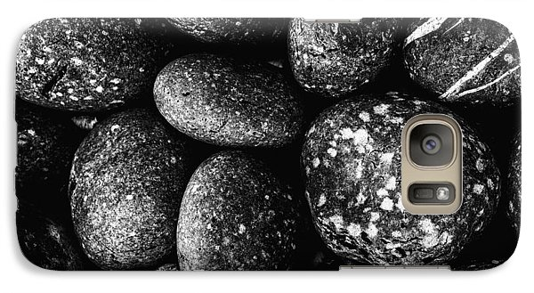 Galaxy Case featuring the photograph Black And White Stones One by Kevin Blackburn