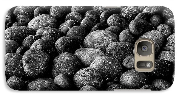 Galaxy Case featuring the photograph Black And White Stones Two by Kevin Blackburn