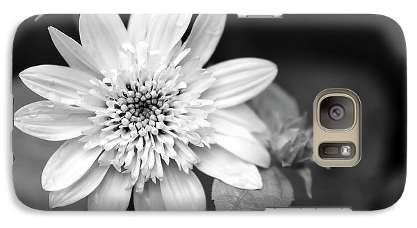 Galaxy Case featuring the photograph Black And White Sunrise Coreopsis by Christina Rollo