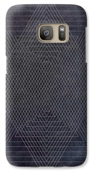 Black And White Triangular Line Art Galaxy Case by Brandi Fitzgerald