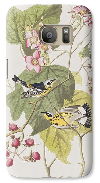 Warbler Galaxy S7 Case - Black And Yellow Warblers by John James Audubon