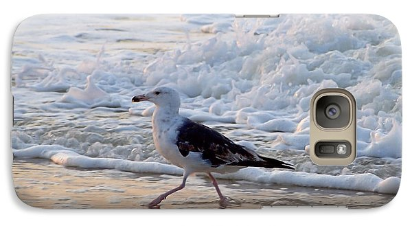 Galaxy Case featuring the photograph Black-backed Gull by  Newwwman