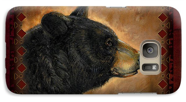 Wildlife Galaxy S7 Case - Black Bear Lodge by JQ Licensing