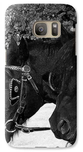 Galaxy Case featuring the photograph Black Beauties by Stuart Turnbull