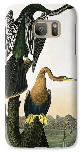 Anhinga Galaxy S7 Case - Black Billed Darter by John James Audubon