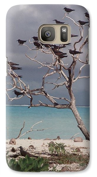 Galaxy Case featuring the photograph Black Birds by Mary-Lee Sanders