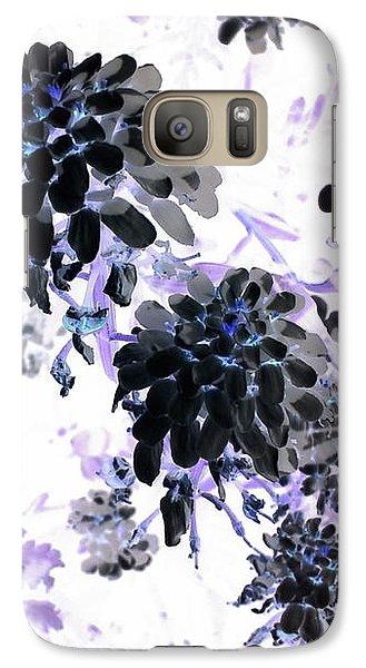 Galaxy S7 Case - Black Blooms I by Orphelia Aristal