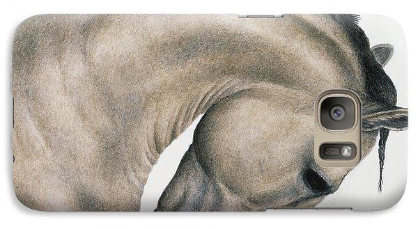 Horse Galaxy S7 Case - Black Braid by Pat Erickson