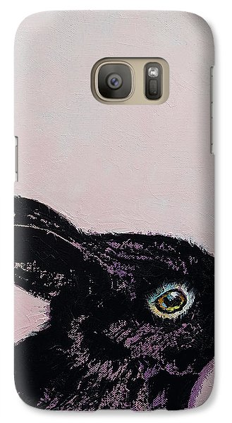 Black Bunny Galaxy S7 Case by Michael Creese