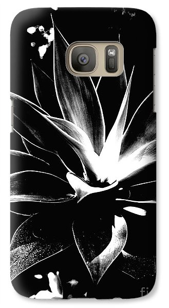Galaxy Case featuring the photograph Black Cactus  by Rebecca Harman