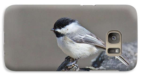 Galaxy Case featuring the photograph Black Capped Chickadee 1128 by Michael Peychich