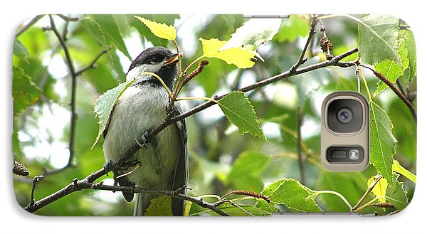 Galaxy Case featuring the photograph Black Capped Chickadee  by Angie Rea
