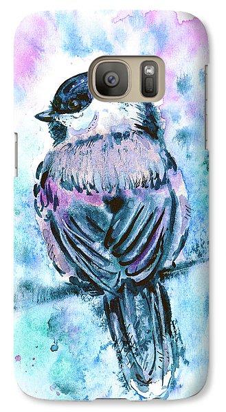 Galaxy Case featuring the painting Black-capped Chickadee by Zaira Dzhaubaeva