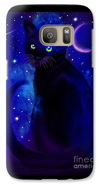 Galaxy Case featuring the painting Black Cat Blues  by Nick Gustafson