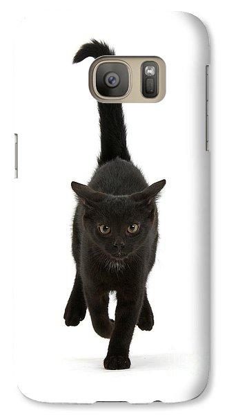 Black Cat On The Run Galaxy S7 Case