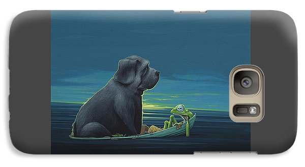 Amphibians Galaxy S7 Case - Black Dog by Jasper Oostland