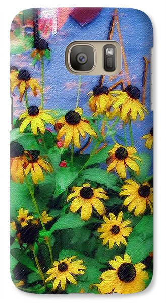 Galaxy Case featuring the photograph Black-eyed Susans At The Bag Factory by Sandy MacGowan