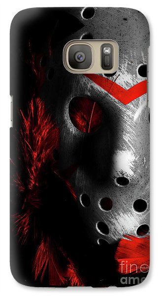 Hockey Galaxy S7 Case - Black Friday The 13th  by Jorgo Photography - Wall Art Gallery