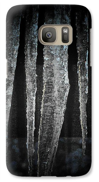 Galaxy Case featuring the digital art Black Ice by Barbara S Nickerson