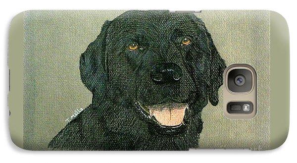 Galaxy Case featuring the drawing Black Labrador Retriever by Terri Mills