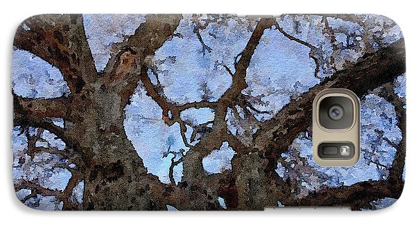 Galaxy Case featuring the painting Black Oaks by Mark Greenberg