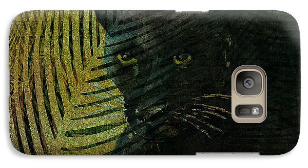 Black Panther Galaxy S7 Case by Arline Wagner