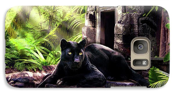 Black Panther Custodian Of Ancient Temple Ruins  Galaxy S7 Case