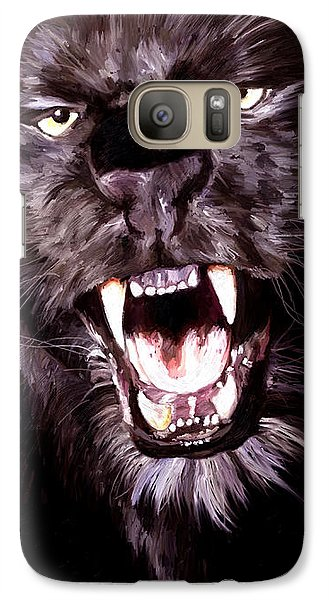 Galaxy Case featuring the painting Black Panther by James Shepherd