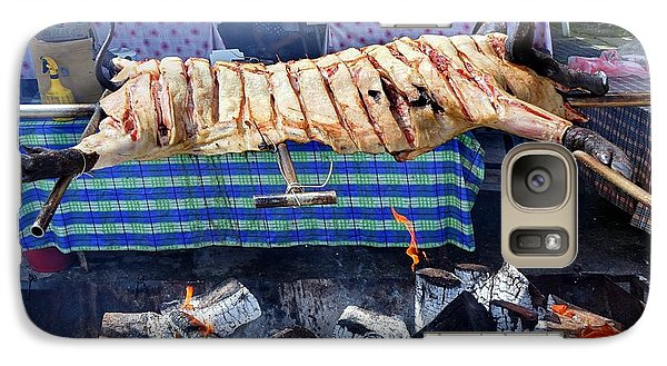 Galaxy Case featuring the photograph Black Pig Spit Roasted In Taiwan by Yali Shi