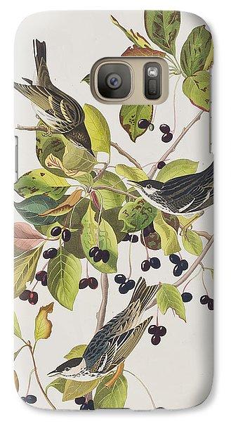 Black Poll Warbler Galaxy S7 Case by John James Audubon