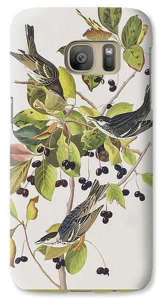 Warbler Galaxy S7 Case - Black Poll Warbler by John James Audubon