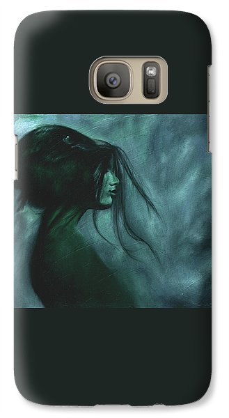 Galaxy Case featuring the painting Black Raven by Ragen Mendenhall