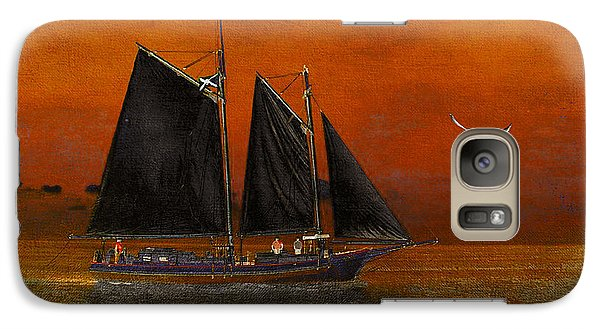 Galaxy Case featuring the photograph Black Sails In The Sunset by Chris Armytage