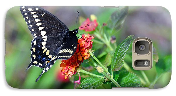 Galaxy Case featuring the photograph Black Swallowtail by Kay Lovingood