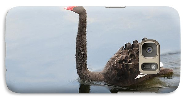 Galaxy Case featuring the photograph Black Swan by Jan Daniels