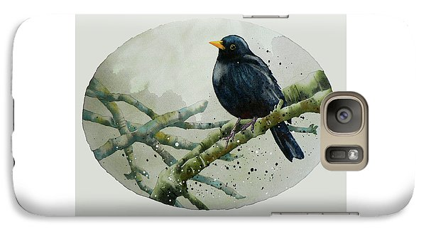 Blackbird Painting Galaxy S7 Case by Alison Fennell