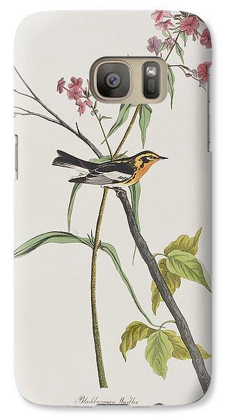 Warbler Galaxy S7 Case - Blackburnian Warbler by John James Audubon