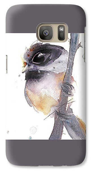 Galaxy Case featuring the painting Blackcapped Chickadee by Dawn Derman