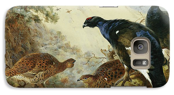 Blackgame Or Black Grouse Galaxy S7 Case by Archibald Thorburn