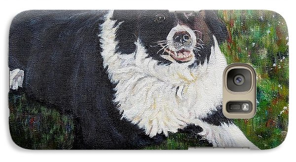 Galaxy Case featuring the painting Blackie by Marilyn  McNish