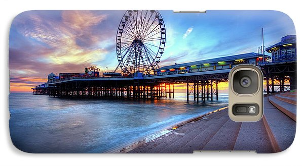 Galaxy Case featuring the photograph Blackpool Pier Sunset by Yhun Suarez