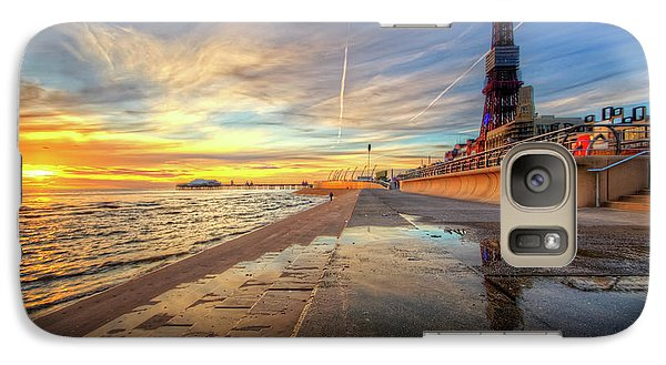 Galaxy Case featuring the photograph Blackpool Sunset by Yhun Suarez