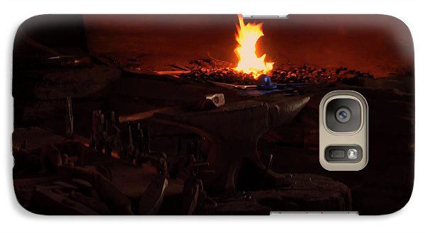 Galaxy Case featuring the digital art Blacksmith Shop by Chris Flees