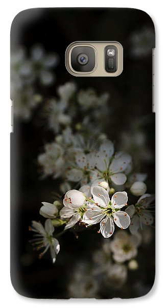 Galaxy Case featuring the photograph Blackthorn Flowers by David Isaacson