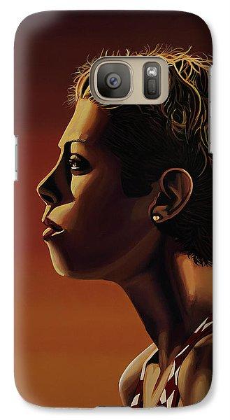 Athletes Galaxy S7 Case - Blanka Vlasic Painting by Paul Meijering