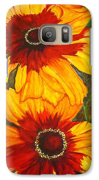 Galaxy Case featuring the painting Blanket Flower by Lil Taylor