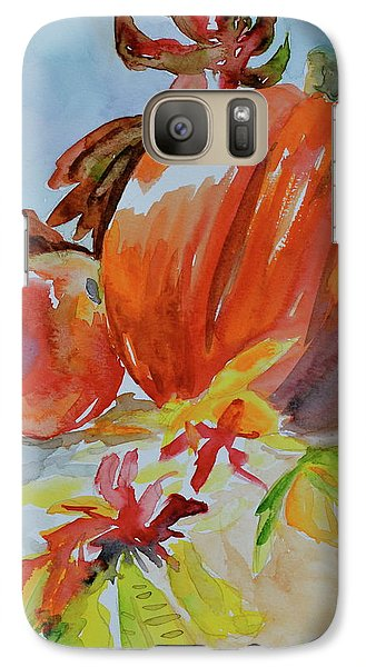 Galaxy Case featuring the painting Blazing Autumn by Beverley Harper Tinsley