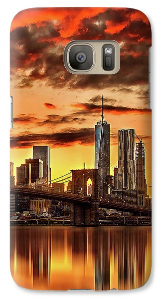 Blazing Manhattan Skyline Galaxy S7 Case