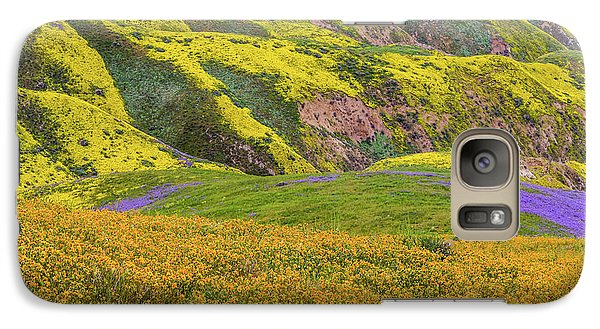 Galaxy Case featuring the photograph Blazing Star On Temblor Range by Marc Crumpler